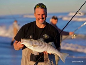 The New Jersey coast is a great bet for late-season striper activity. (photo by Tom Lynch)