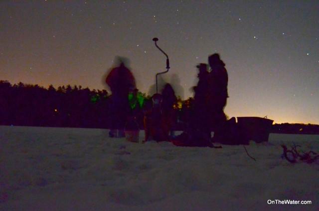 Night ice for Ice fishing at night