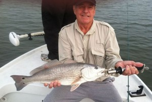 A New Jersey redfish caught on a topwater plug, sent in by Captain Dan Schafer of Insomniac Guide Service LLC.