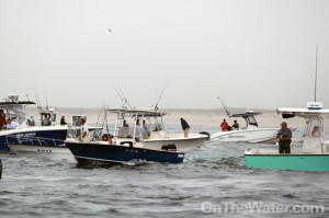 Commercial striped bass season off Monomoy, July 2011.