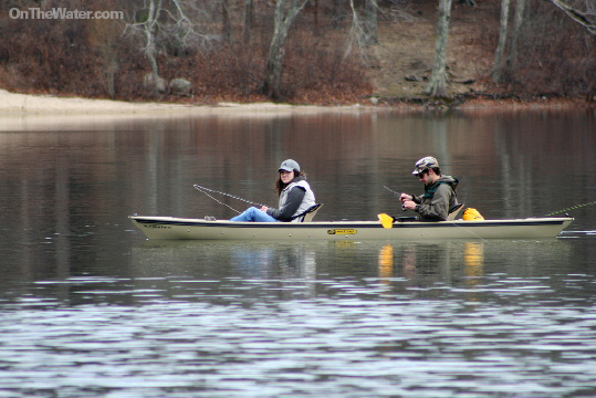 Most kettle ponds are on the smaller side and offer peace and solitude for anglers in canoes and kayaks.