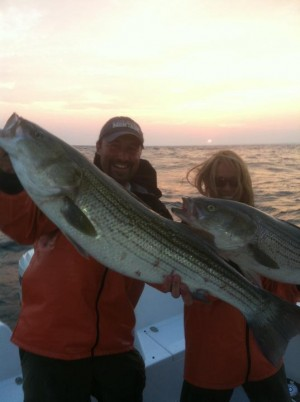 Red Sores on Striped Bass