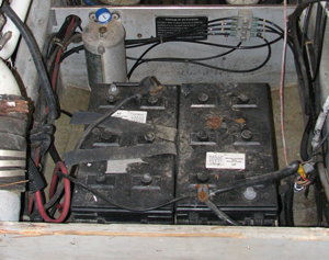 Charging and cleaning your batteries is a good way to start your boat dewinterization checklist.