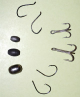 As far as terminal rigging goes, try to keep things simple. I prefer 1/4- to 1-ounce egg sinkers, 2- to 3-foot 30- to 50-pound test monofilament leaders (or wire for blues), and sharp short-shank live bait hooks or circle hooks.