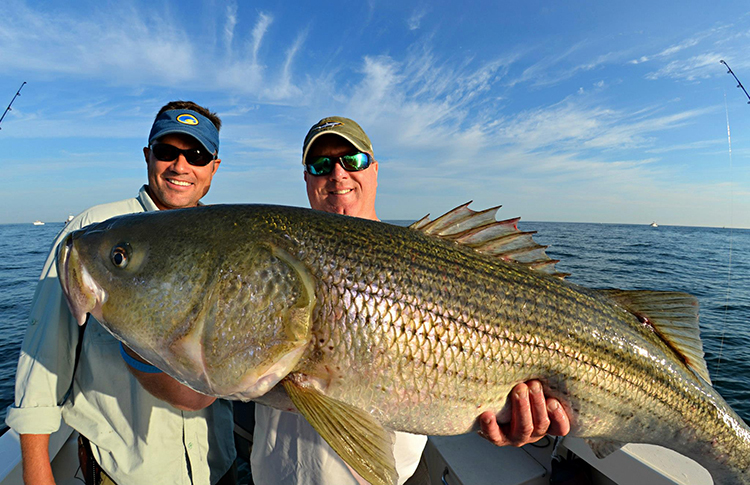 Block island stripers on the water for Best striper fishing spot in ri