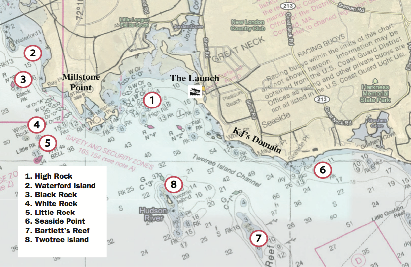 Kayak anglers 39 guide to fishing waterford ct for Cod fishing ri