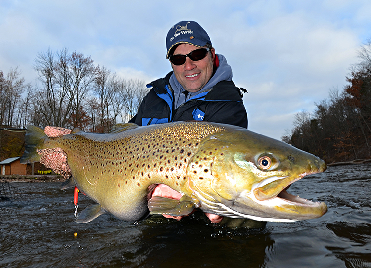 Oak orchard brown trout on the water for Salmon river ny fishing map