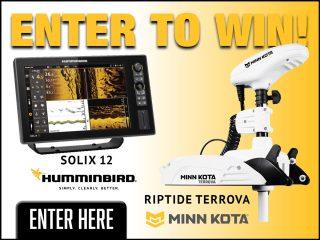 Humminbird SOLIX 12 CHIRP MEGA SI+ G2 and a Minn Kota Riptide Terrova giveaway