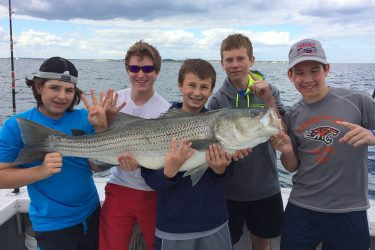 "This 40-pounder was taken by a ""kid committee"" aboard Captain Rob Savino's CJ Victoria!"