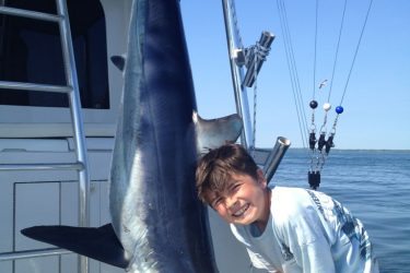 Anthony Vaccaro Jr with his first ever Mako.