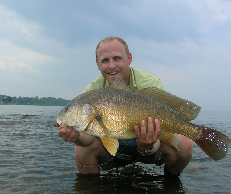 Hard-fighting freshwater drum are as challenging as permit on saltwater flats.