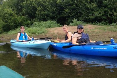 Ladies enjoying a lovely day on the Susquehanna River.  Sporting their PFD's, they are showing great WEAR IT spirit!!  From Left: Sandy Norbeck, Sue Hoopstick, Margorie Ranio.