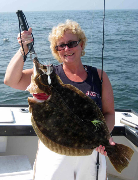 Monster Montauk Fluke On The Water