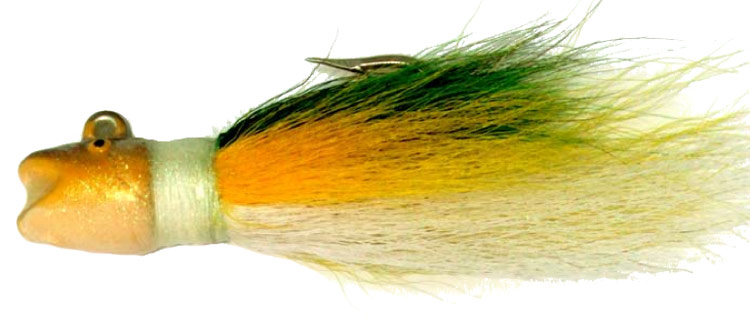 Bucktail jigs are very durable and can be used to imitate a wide variety of baitfish.