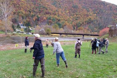 PFBC and Slate Run Tackle Shop held a Women's Intro To Fly Fishing class on Pine Creek over the weekend.  Great times, friends, and beautiful scenery!!  Thank you to all who came out to learn a new way of enjoying PA waters!  (photo by Julie Szur)