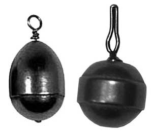 Left: Eagle Claw Non-Lead Casting Weight, Right: Specialty Drop-Shot Weight