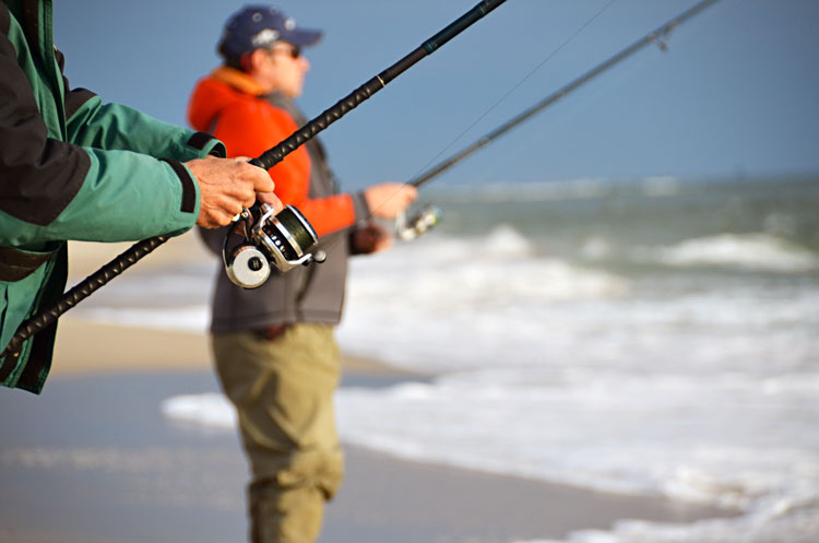 South jersey surfcasting on the water for Surf fishing nj