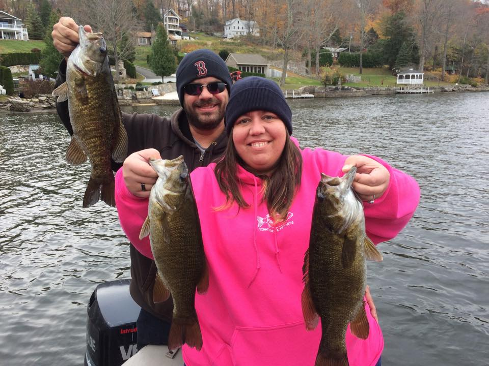 Shannon Mallette and James Mercier slammed some quality Candlewood lake smallies.