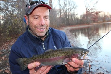 Stocked trout are one of the best bets, with the occasional surprise of a colorful holdover.