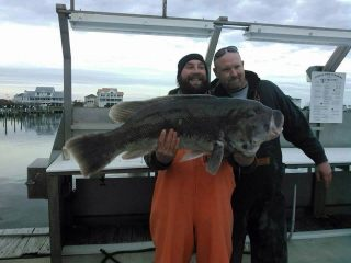 Kenneth Westerfeld reeled in a 28-pound world record tautog while fishing on a wreck out of Ocean City, Maryland.