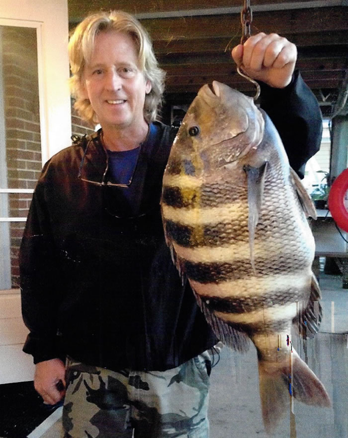 William Catino of Ventnor, New Jersey, reeled in the new state record Sheepshead on October 14, 2014. The fish weighed in at 19 pounds, 3 ounces.