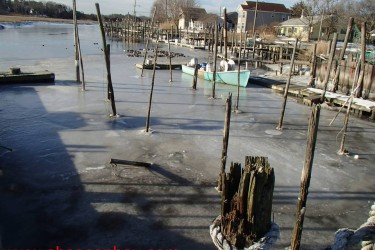 The view at Absecon Bay Sportsman as of Tuesday. Might be a little bit before the first backwater stripers are caught.