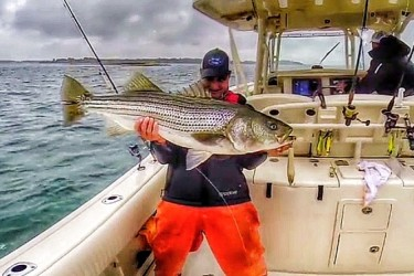 Topwater Striped Bass Fishing Joe G Gopro