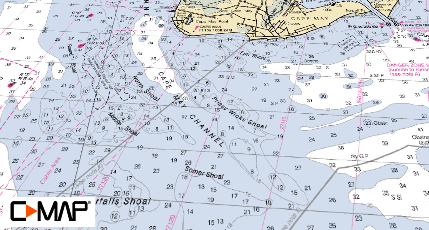 C-MAP Featured Hotspot: The Cape May Rips - On The Water on sandy hook map, wildwood map, teaneck map, haddonfield map, north cape map, allenhurst map, mindelo cape verde islands map, fenwick island map, ocean city map, jersey shore map, cape cod map, summit map, pascagoula map, bayonne map, estell manor map, flemington map, fairfield map, bordentown map, avalon manor map,