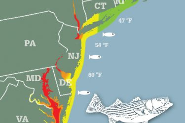 Striper Migration Map 2015-05-05