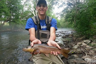 Nate Shervinskie caught this beautiful Fishing Creek Brown Trout