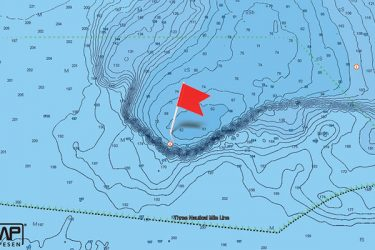 Click on map for hi-res bathymetric map  provided by C-MAP