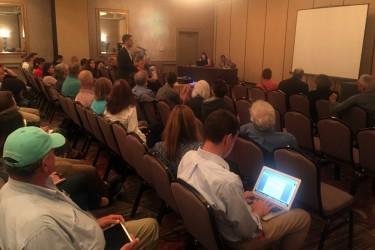 Mike Leonard, Ocean Resource Policy Director at the American Sportfishing Association, comments in favor of recreational fishing access at a NOAA town meeting held in Providence, Rhode Island on the proposed Marine Monument.