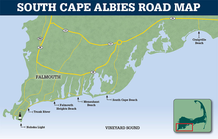 South Cape Albies Road Map