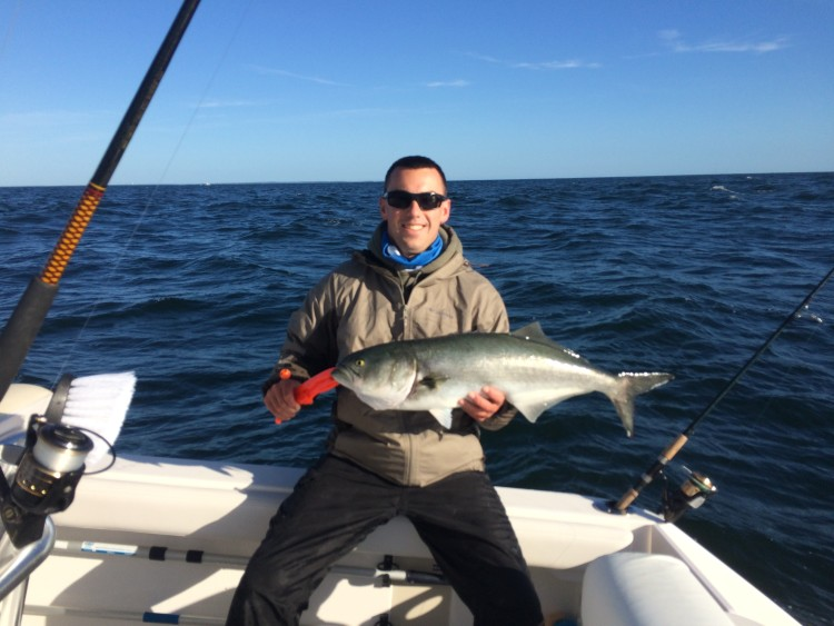 Jon Kaine spent the weekend in Falmouth to do some fishing and attend StriperFest. He found a mix of big bluefish, albies, and bonito by trolling the Sebile Bull Minnow he received with his Striper Cup Sign Up package!