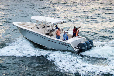Grady-White's Canyon 336 is a tough saltwater performer with first-class fishing features.