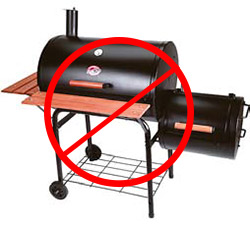Not recommended: inexpensive offset smoker