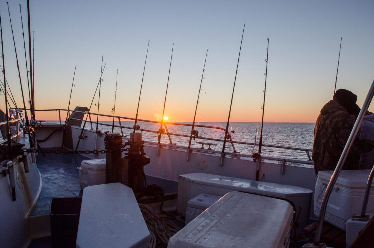 party boat sunrise pollock groundfish winter fishing