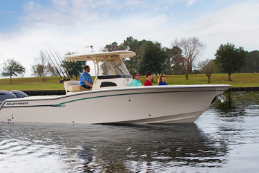 Grady-White Canyon 271 FS adds comfort and forward seating capacity for five or more people.
