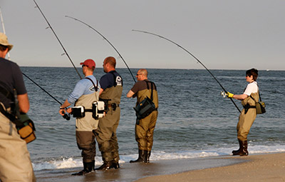 The 9 best striper fishing towns in the northeast on the for Ocean city nj surf fishing report