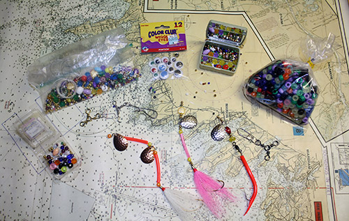 Don't toss out those old, unused (never opened) children's DIY kits until you have a chance to rifle through them for potential fishing treasures!