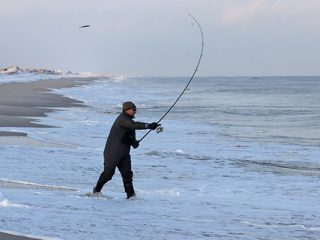 Surfcasting can be done year 'round in New Jersey
