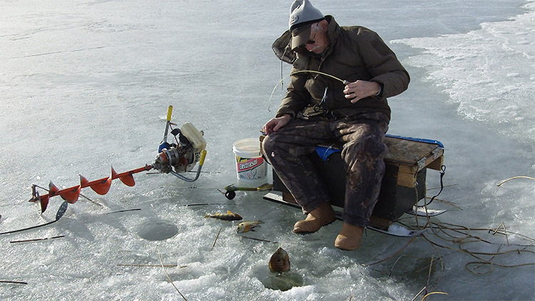 Image result for ice fishing vermont