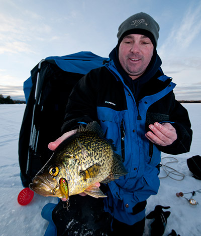 aggressive jigging will trigger reaction bites from funked-out crappie