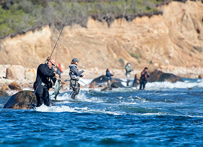 The 9 best striper fishing towns in the northeast on the for Surf fishing for stripers