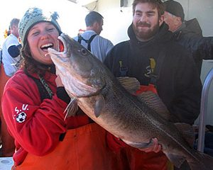 Wintertime codfishing is giving anglers something to smile about during the otherwise fishless cold-weather months.