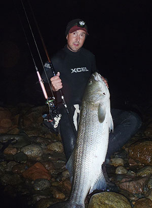 Mike Veracka caught this cow striper on a needlefish plug