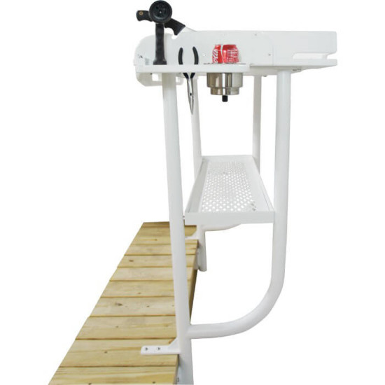 Fish cleaning table dock overhang