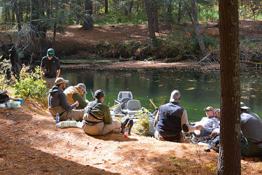 Swapping fish tales and lies with the guides of Harrison Anglers