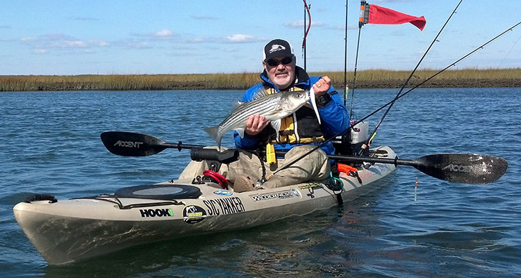 Back Bay Kayak Trolling For Stripers - On The Water