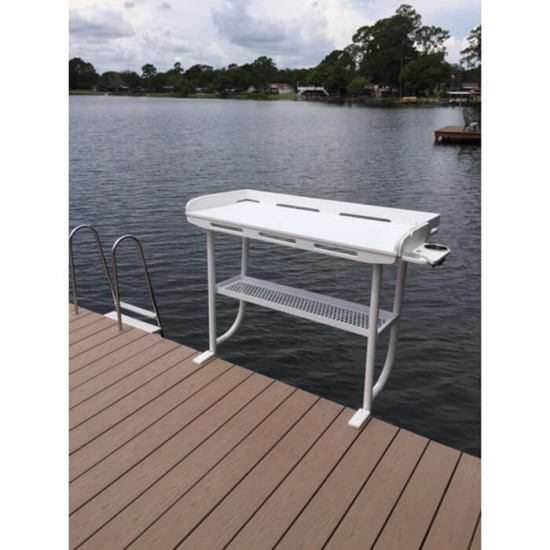 fish cleaning table overhang dock